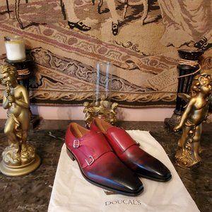 Doucal's Men's Dress Shoes Monk Strap